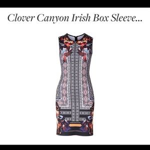 Clover canyon bodycon dress size xs worn once!